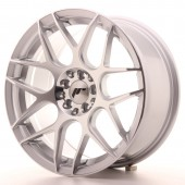 "Japan Racing JR-18 17x8"" 4x100/114.3 ET35, Gris Argenté / Poli"