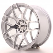 "Japan Racing JR-18 17x9"" 4x100/114.3 ET20, Gris Argenté / Poli"