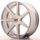 "Japan Racing JR-20 20x8.5"" (5 trous - sur mesure) ET25, Gris Argenté / Poli"