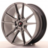 "Japan Racing JR-21 19x8.5"" (5 trous - sur mesure) ET35, Hyper Black"