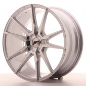 "Japan Racing JR-21 19x8.5"" (5 trous - sur mesure) ET35-40, Gris Argenté / Poli"