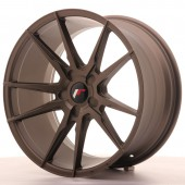 "Japan Racing JR-21 Extreme Concave 19x9.5"" (5 trous - sur mesure) ET20, Bronze"