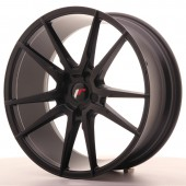 "Japan Racing JR-21 20x8.5"" (5 trous - sur mesure) ET40, Noir Mat / Satiné"