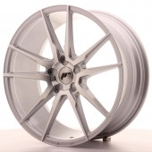 "Japan Racing JR-21 20x8.5"" (5 trous - sur mesure) ET40, Gris Argenté / Poli"