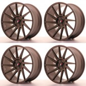 "Pack de 4 Japan Racing JR-22 Extreme Concave 19x9.5"" 5x120 ET35, Bronze"