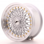 "Japan Racing JR-9 16x8"" 4x100/108 ET25, Gris Argenté / Poli"