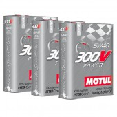 Pack Promo Huile Motul 300V Power 5W40 (3 x 2L)