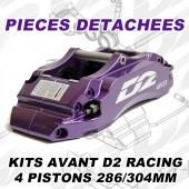 Pièces Détachées pour Kits Avant D2 Racing - 4 Pistons 286/304 mm