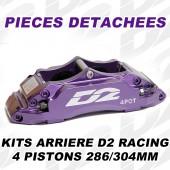 Pièces Détachées pour Kits Arrière D2 Racing - 4 Pistons 286/304 mm