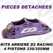 Pièces Détachées pour Kits Arrière D2 Racing - 4 Pistons 330/355 mm