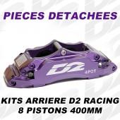 Pièces Détachées pour Kits Arrière D2 Racing - 8 Pistons 400 mm