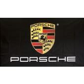 Drapeau Porsche Noir (90x155cm)