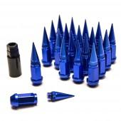 Ecrous Spike Bleus en Aluminium Forgé - M12x1.25 (Pack de 20)