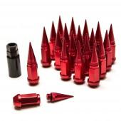 Ecrous Spike Rouges en Aluminium Forgé - M12x1.25 (Pack de 20)
