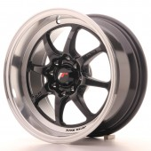 "Japan Racing TF-2 15x7.5"" 4x100/114.3 ET10, Noir / Brillant"