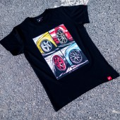 T-Shirt Homme Japan Racing Mix - Noir