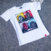 T-Shirt Homme Japan Racing Mix - Blanc