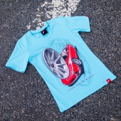 T-Shirt Femme Japan Racing JR-11 - Turquoise